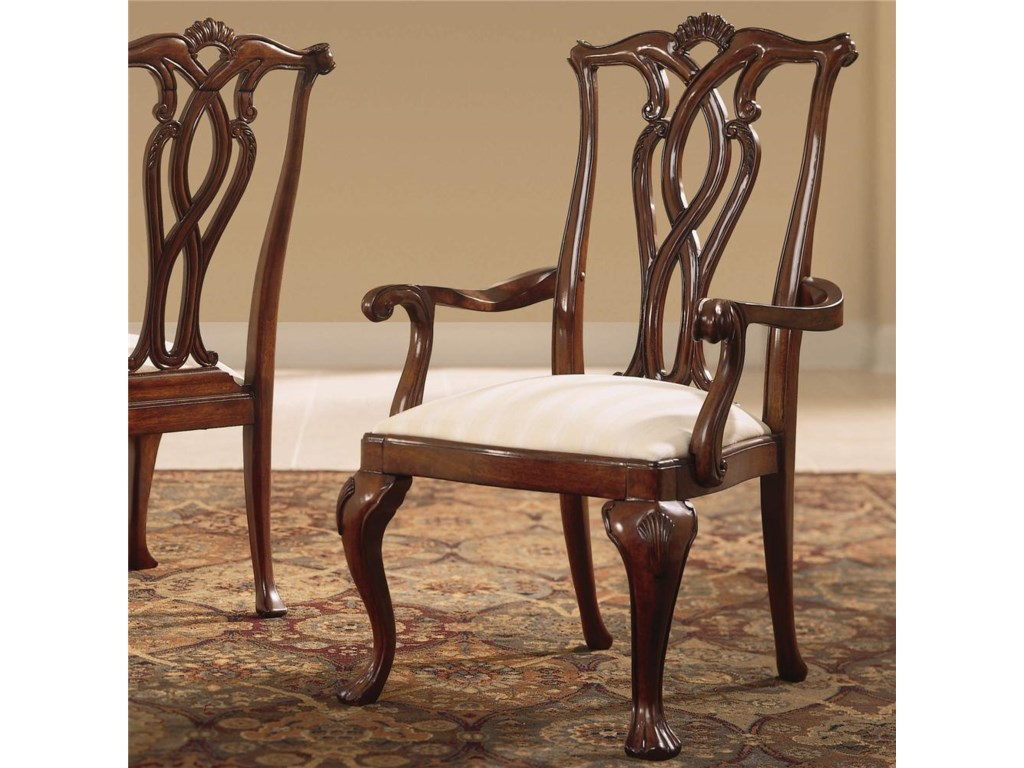 American Drew Cherry Grove 45thPierced Back Arm Chair