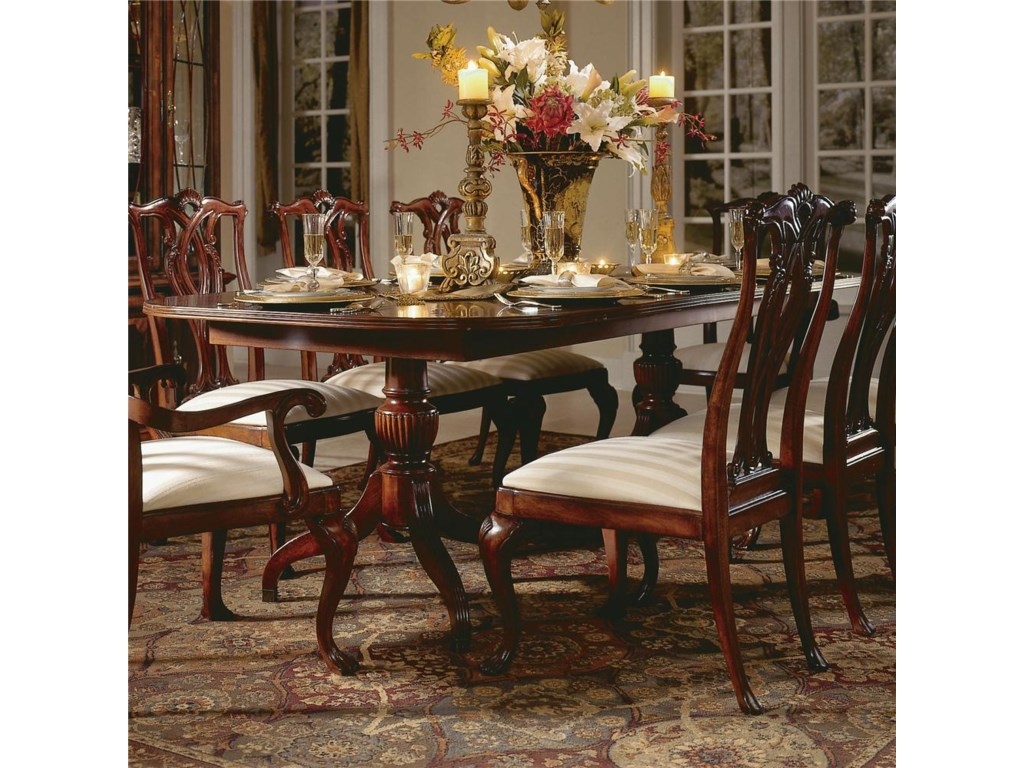 American Drew Cherry Grove 45th Double Pedestal Dining Table ...