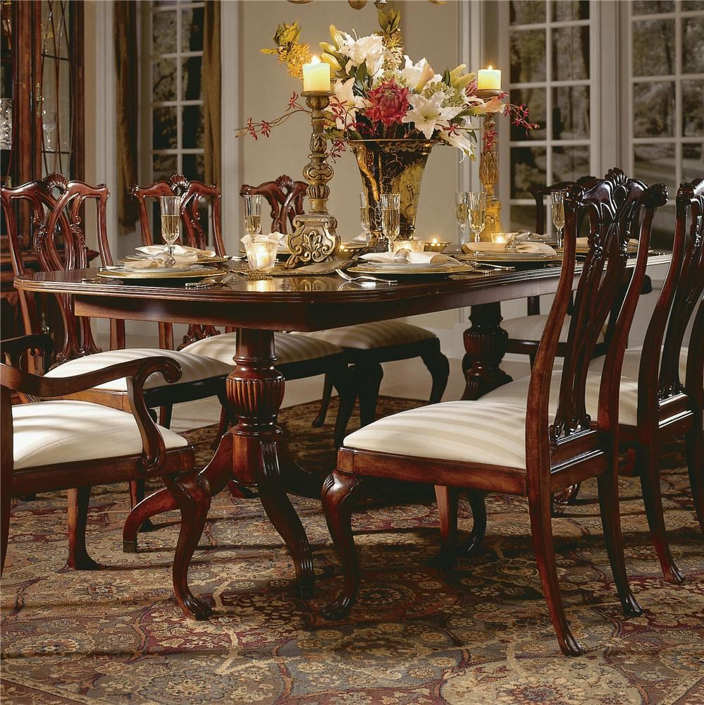 Delicieux American Drew Cherry Grove 45th 792 744R Double Pedestal Dining Table    Hudsonu0027s Furniture   Dining Room Table