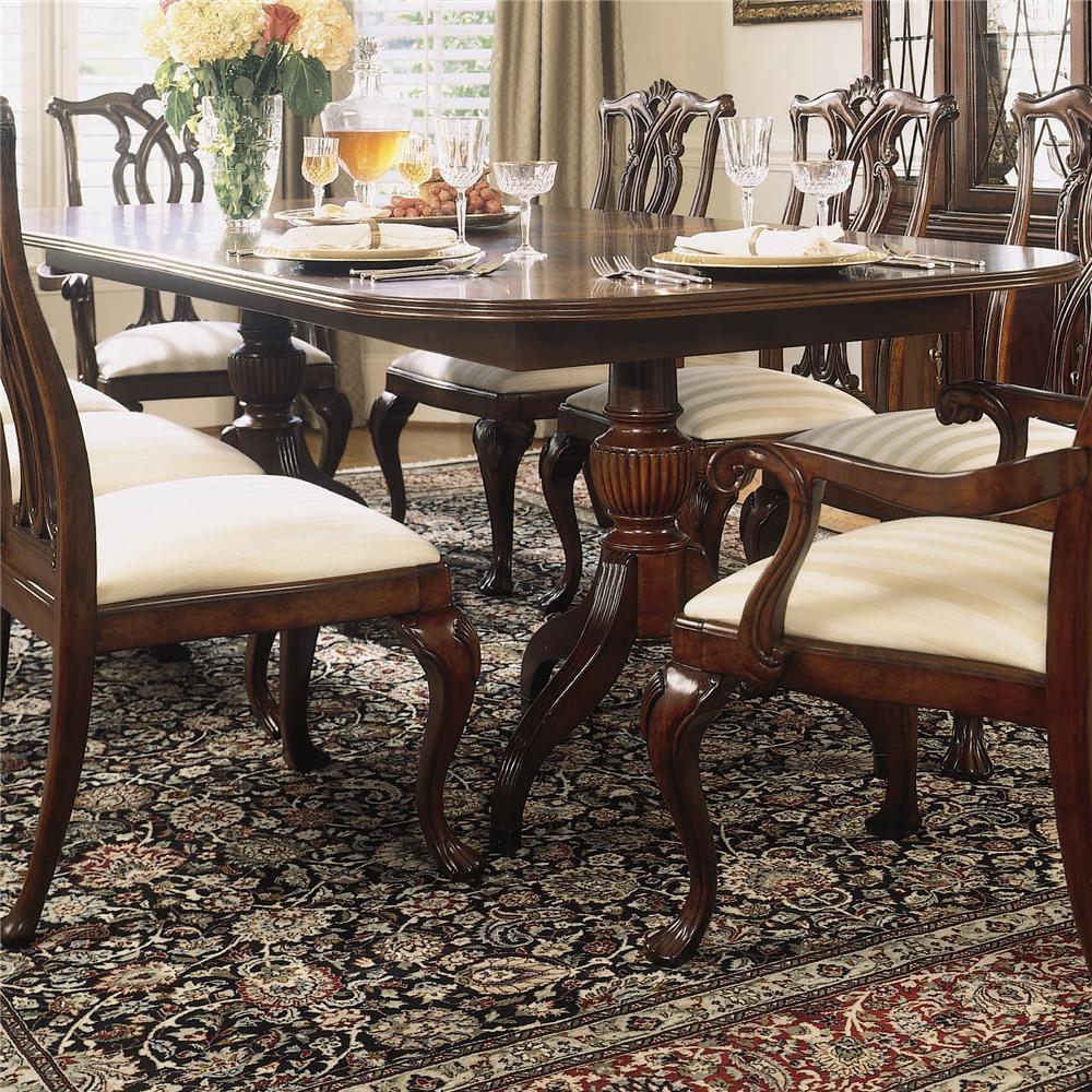 Shown With Pierced Back Arm And Side Chairs And Breakfront China Cabinet ...