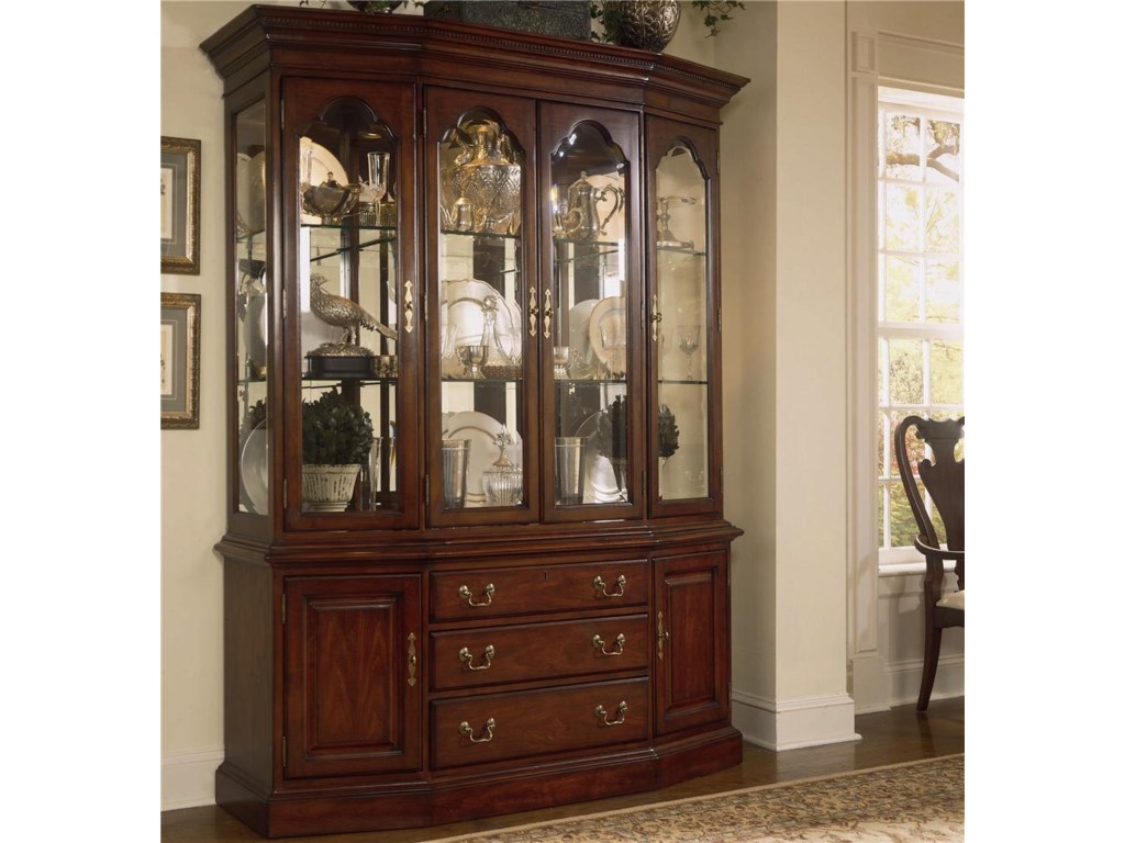 American Drew Cherry Grove 45th 792-830R Canted Glass Door China Cabinet |  Hudson's Furniture | China Cabinet