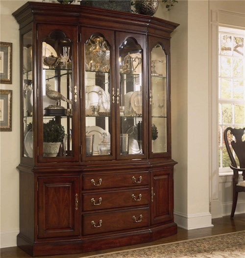 American Drew Cherry Grove 45th Canted Glass Door China Cabinet