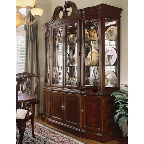 American Drew Cherry Grove 45th China Cabinet with Breakfront Doors