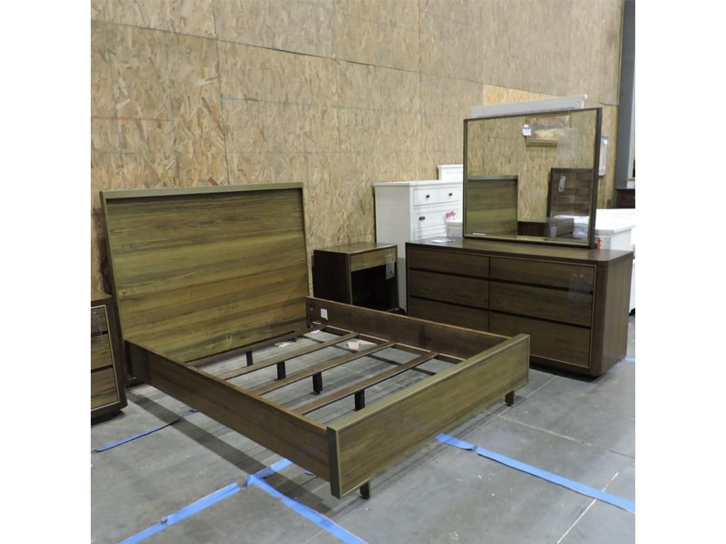 American Drew ClearanceQueen Bed, Dresser, Mirror, and Nightstand