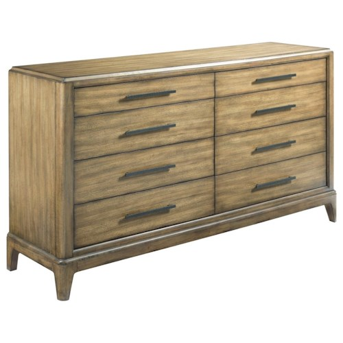 American Drew EVOKE  Dresser with 8 Soft-Close Drawers