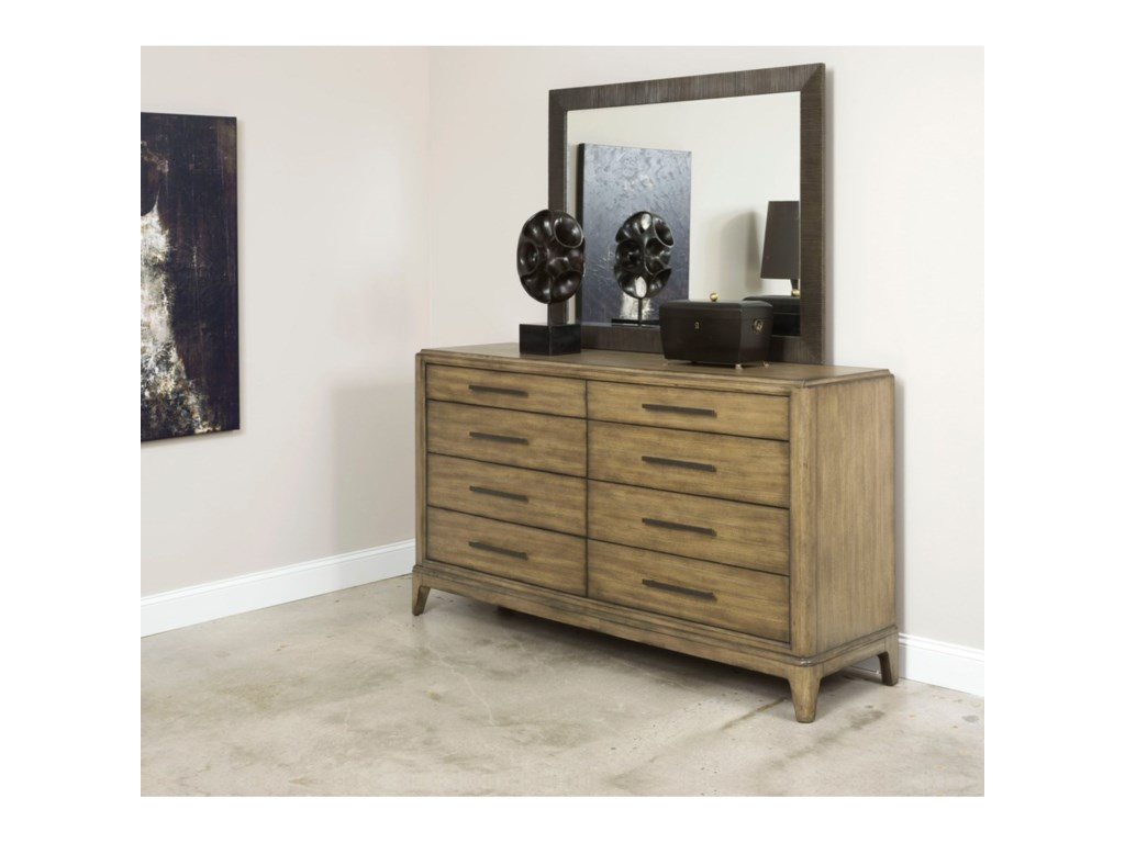 American Drew EVOKE Dresser with 8 Soft-Close Drawers