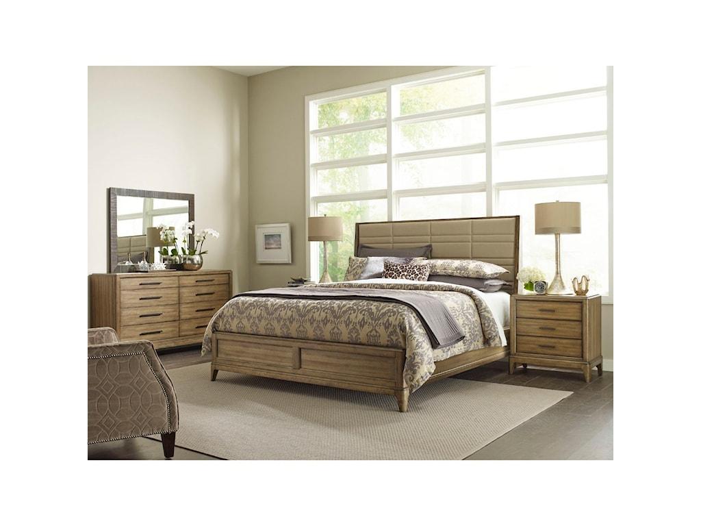 American Drew EVOKE Queen Upholstered Sheltered Bed