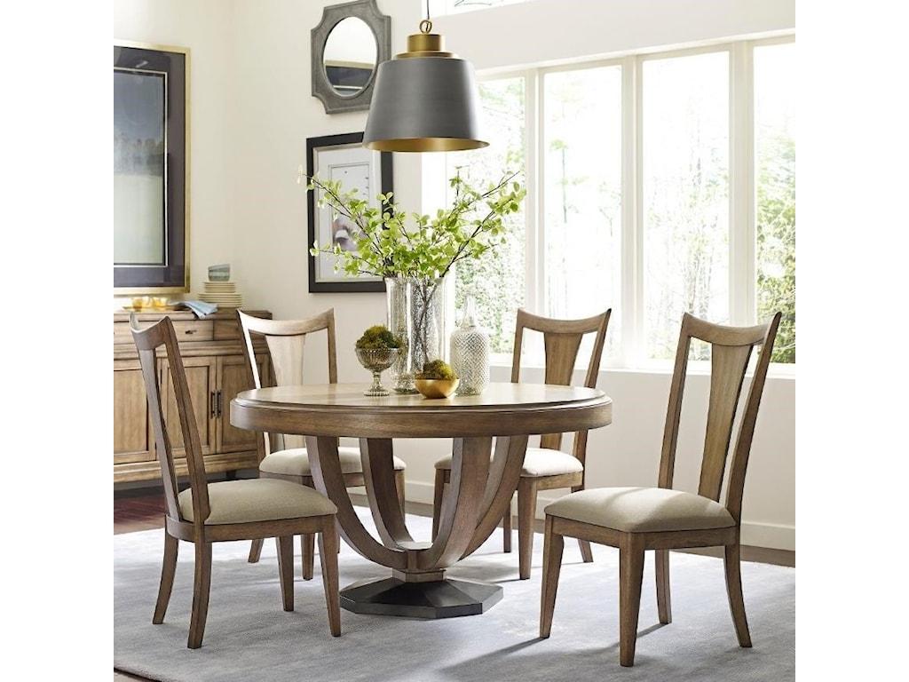 American Drew EVOKE 5 Piece Table & Splat Back Chair Set