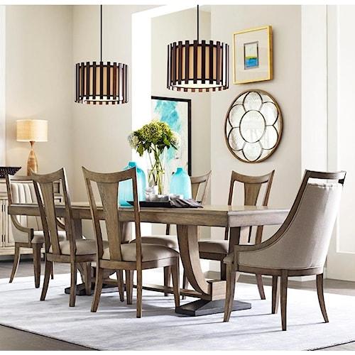 American Drew EVOKE  7 Piece Table & Chair Set