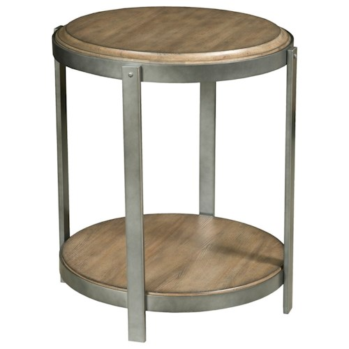 American Drew EVOKE  Round Accent Table with Shelf