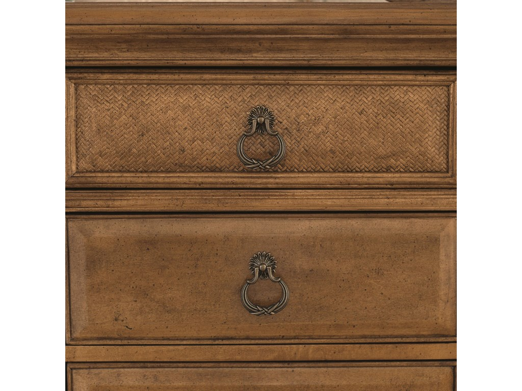 Custom Designed Hardware Adorn Textured Drawer Fronts