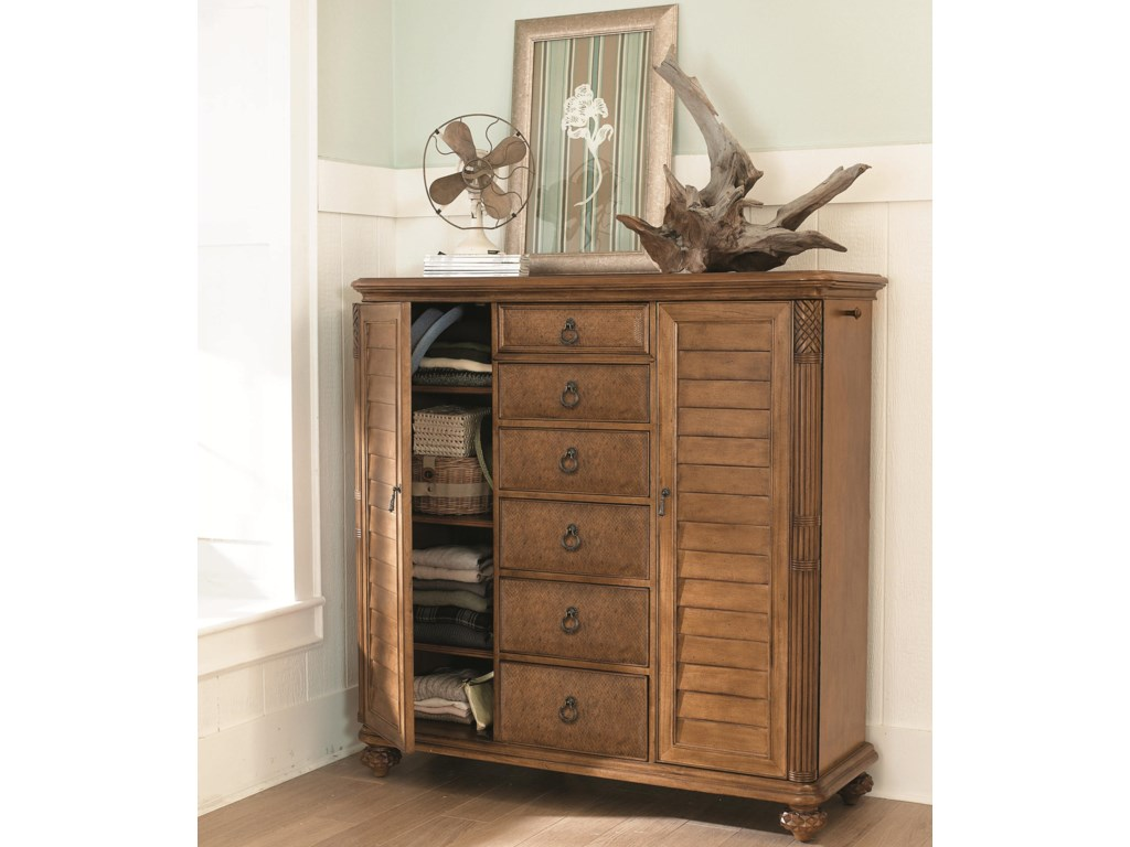 Two Doors and Six Drawers Provide Ample Storage Space