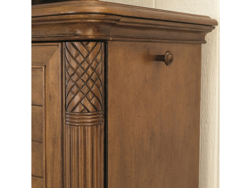 A Hanging Peg on Either Side of the Dressing Chest Adds Organization Options
