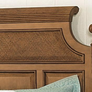 Woven Panel Accents & Shapely Fluted Crown Molding