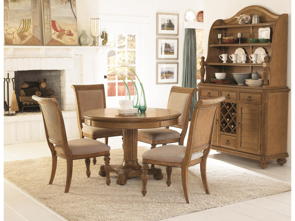 Shown with Round Dining Table & Buffet with Hutch