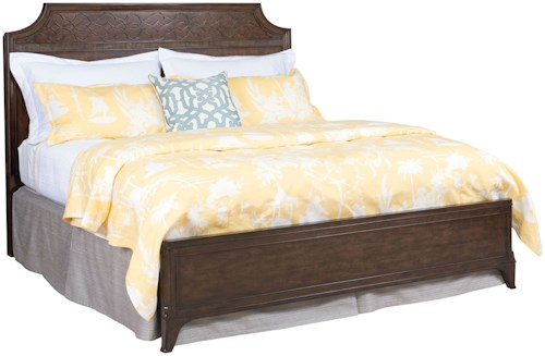 American Drew Grantham Hall Full/Queen Panel Bed with Detailed Headboard