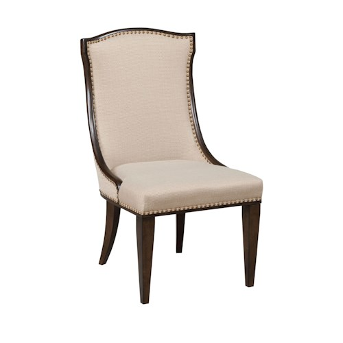 American Drew Grantham Hall Upholstered Side Chair with Nail Head Trim