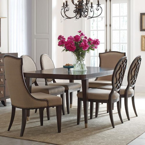 American Drew Grantham Hall 7 Piece Table and Chair Set with 2 20