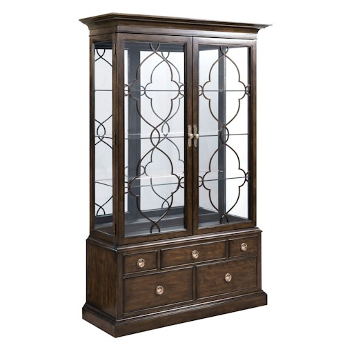 American Drew Grantham Hall Curio China with Touch Lighting