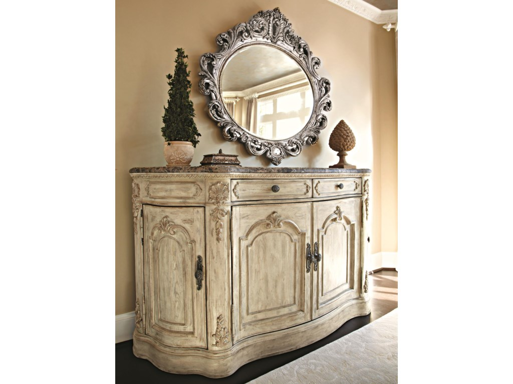 American Drew Jessica McClintock Home - The Boutique CollectionOval Decorative Mirror