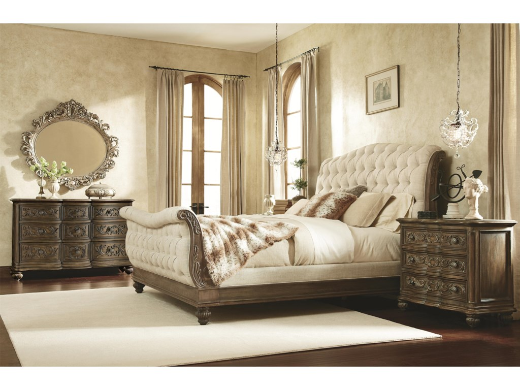 American Drew Jessica McClintock Home - The Boutique CollectionQueen Sleigh Bed
