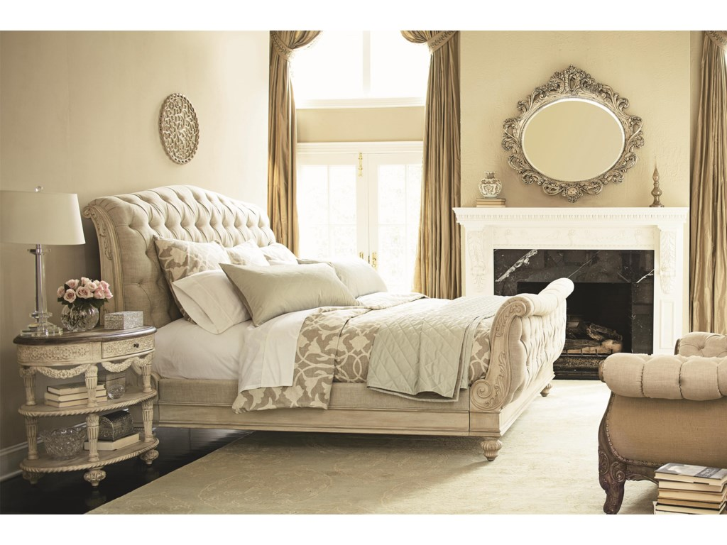 American Drew Jessica McClintock Home - The Boutique CollectionKing Sleigh Bed