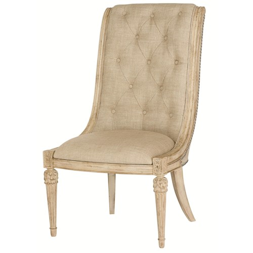 American Drew Jessica McClintock Home - The Boutique Collection Upholstered Side Chair with Upholstered Tufted Back