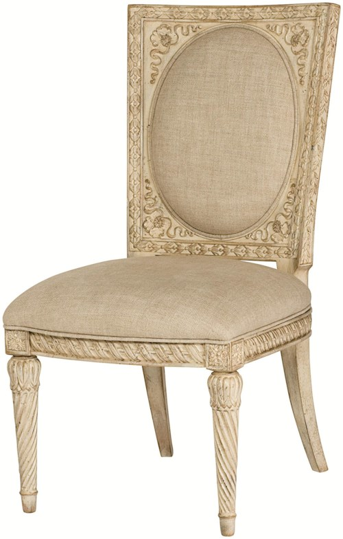 American Drew Jessica McClintock Home - The Boutique Collection Cane Back Accent Chair with Upholstery