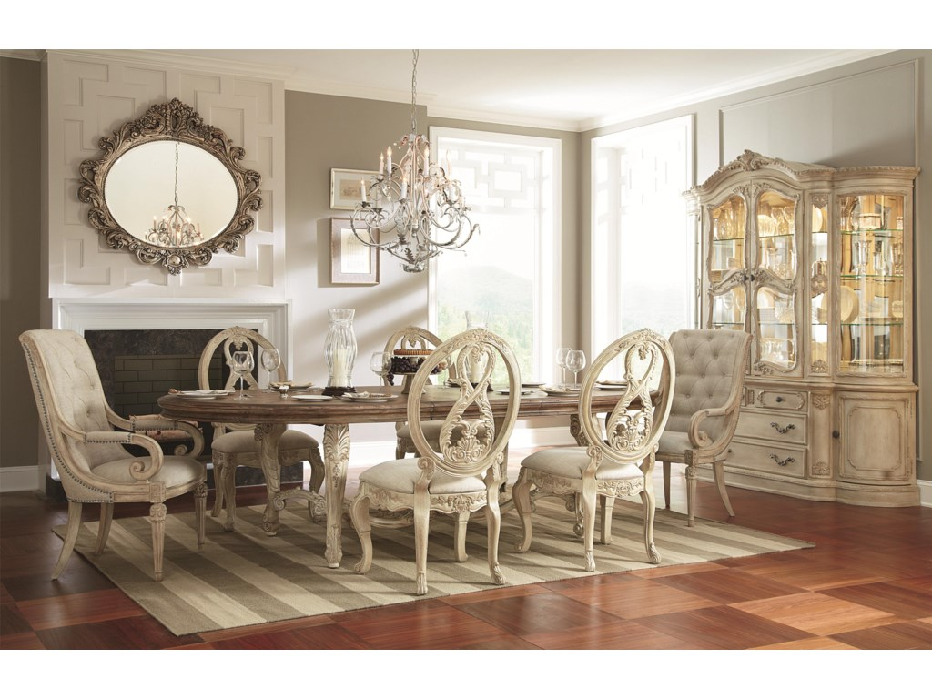 American Drew Jessica McClintock Home - The Boutique Collection7 Piece Dining Table Set