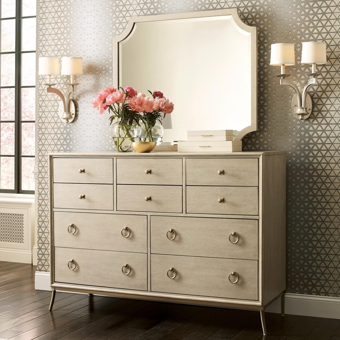 Ventura 10-Drawer Dresser and Mirror Set