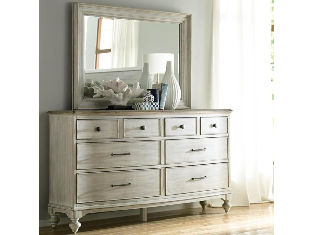 check out 298cb aaee0 Litchfield Weymouth Eight Drawer Dresser and Mirror Set by American Drew at  Hudson's Furniture