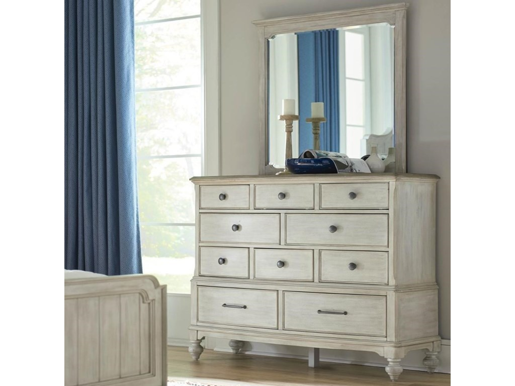 American Drew LitchfieldCotswold Dresser Mirror Set
