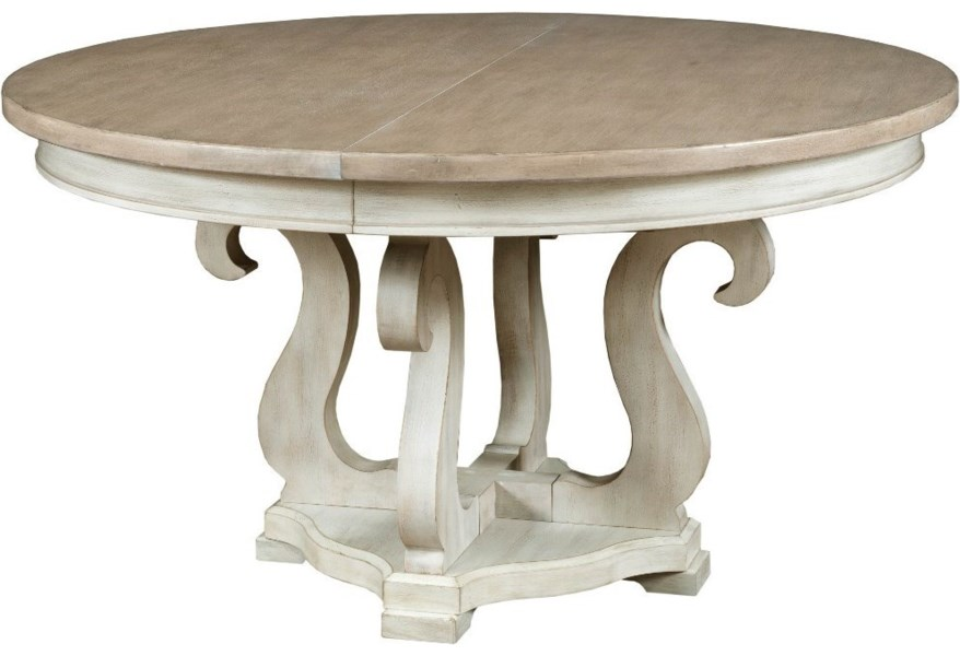 American Drew Litchfield Sussex Round Dining Table With 20 Leaf Jacksonville Furniture Mart Dining Tables
