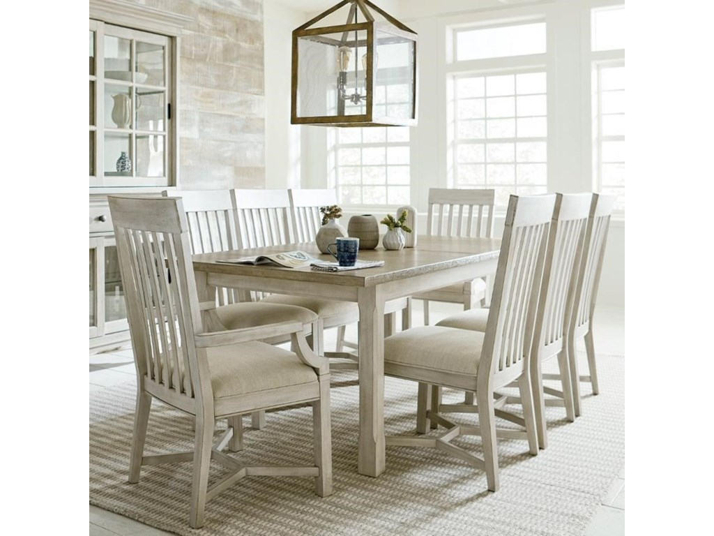 American Drew Litchfield9 Piece Table & Chair Set