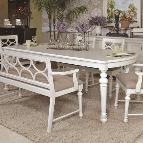 American Drew Lynn Haven Rectangular Dining Table with Turned Legs
