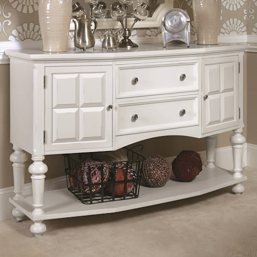 American Drew Lynn Haven Server with 2 Doors and 2 Drawers and 1 Lower Shelf