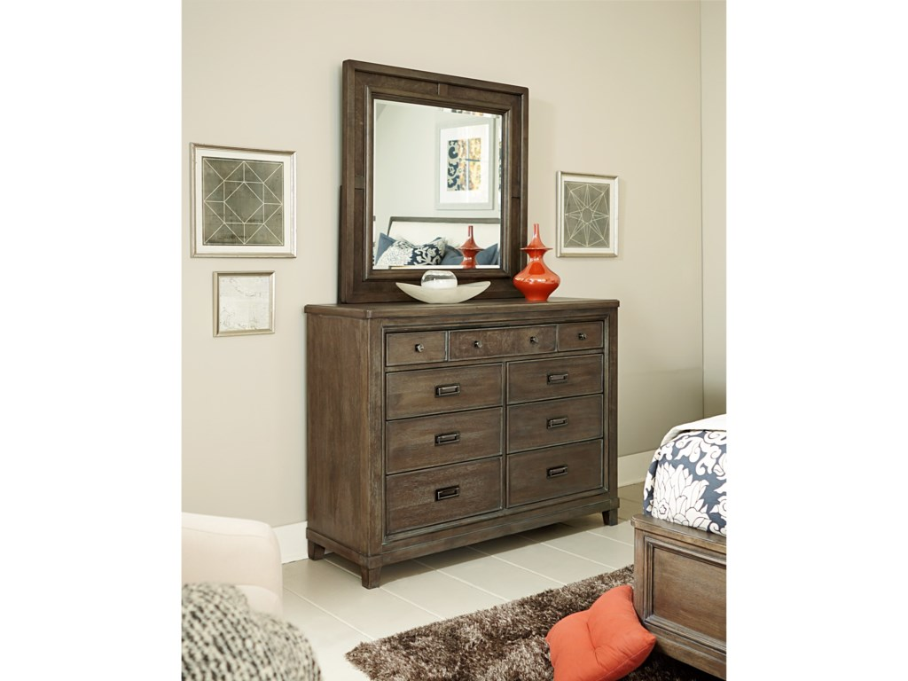 American Drew Park StudioDresser and Mirror Set