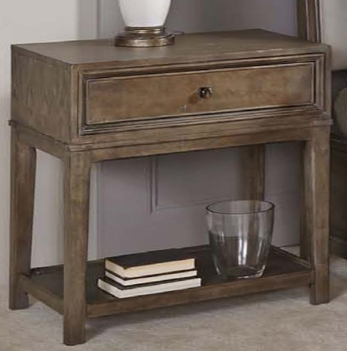 American Drew Park Studio Contemporary Night Stand with 1 Drawer and 1 Lower Shelf