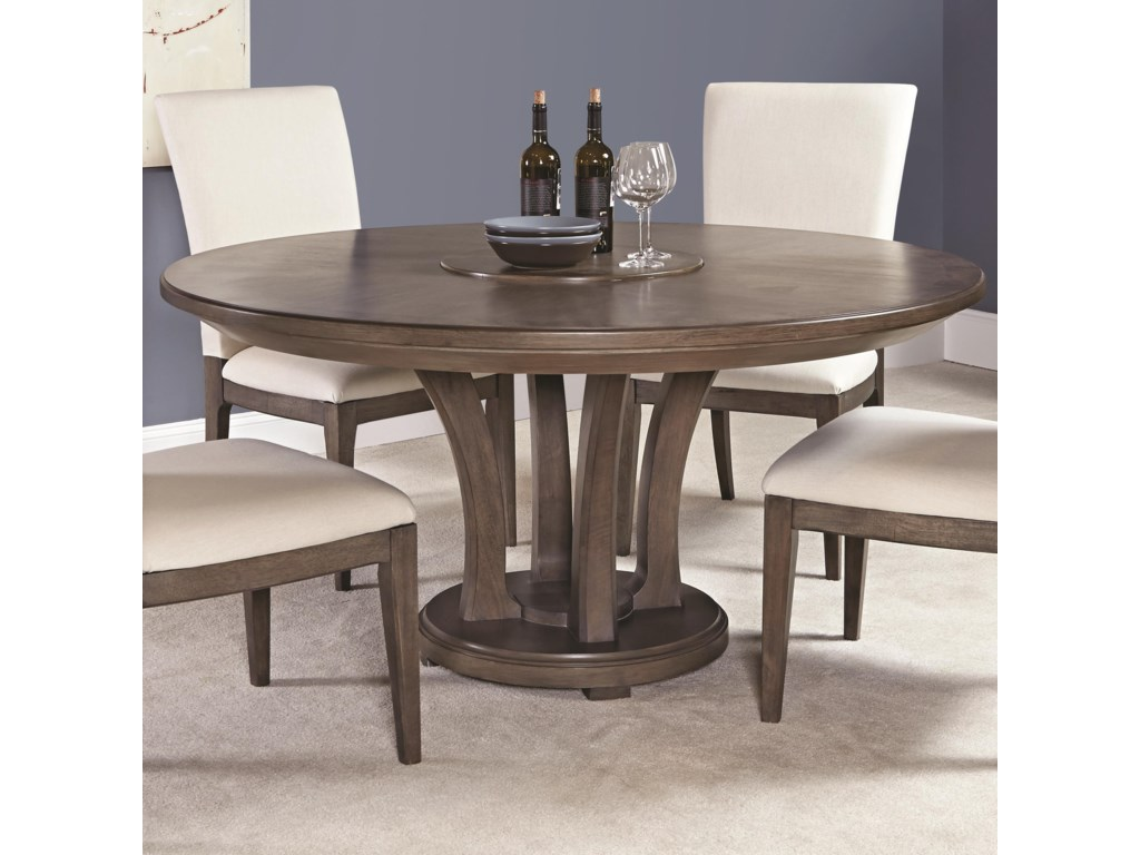 American Drew Park Studio Contemporary 62 Inch Round Dining Table With Trestle Base