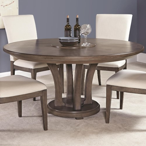 American Drew Park Studio Contemporary 62-Inch Round Dining Table with Trestle Base
