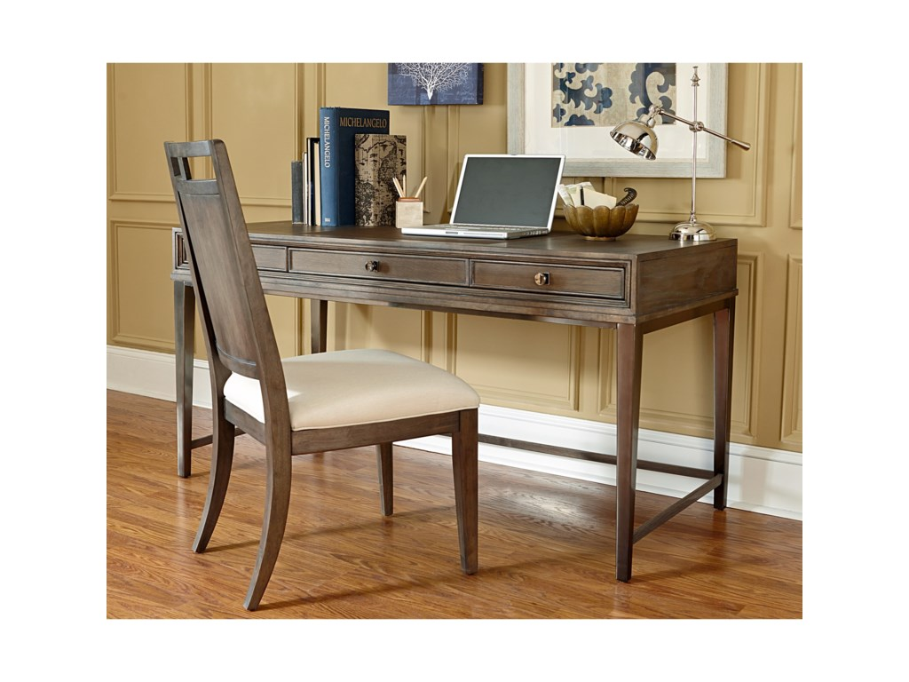 American Drew Park Studio Contemporary Writing Desk With 3 Drawers