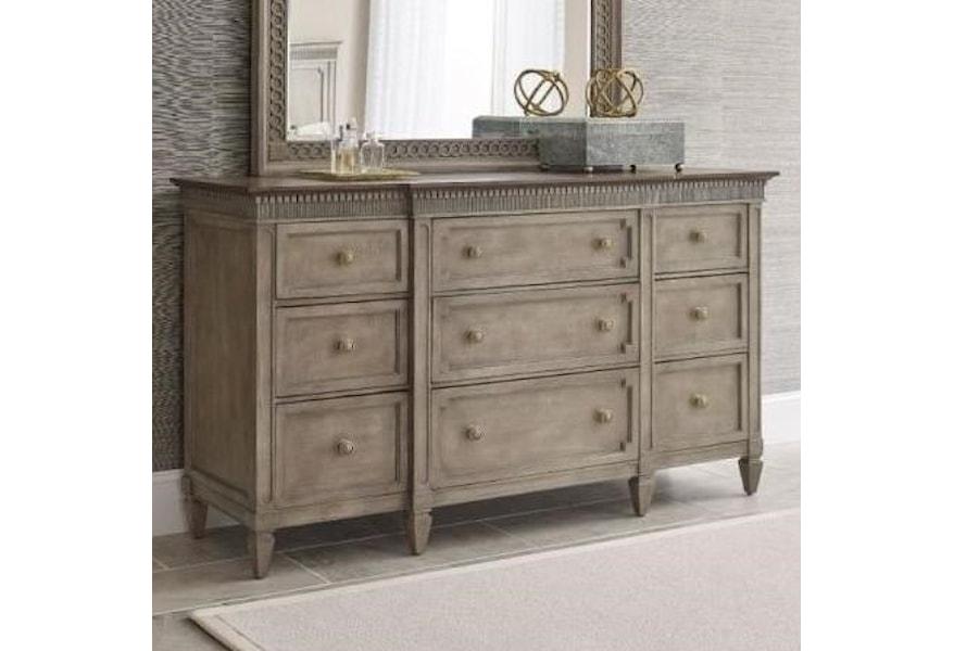 American Drew Salina 9 Drawer Dresser