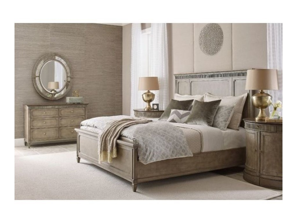 American Drew SavonaKatrine Queen Panel Bed