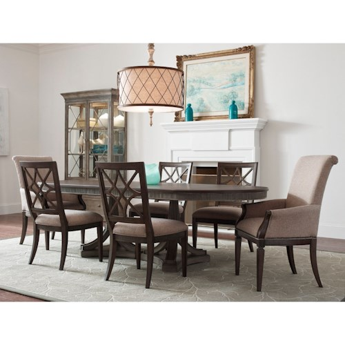 American Drew Savona Seven Piece Table & Chair Set