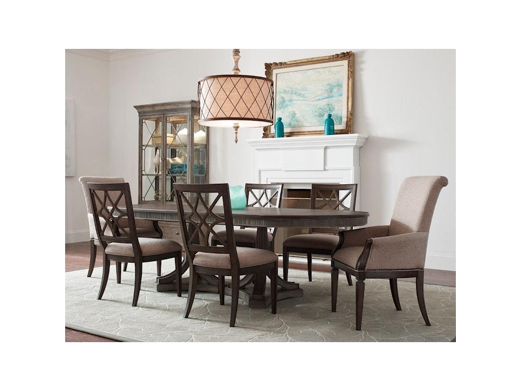 American Drew SavonaSeven Piece Table & Chair Set