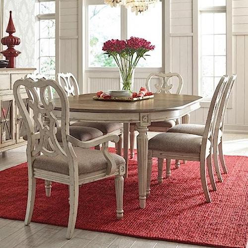 American Drew SOUTHBURY 7 Piece Table & Chair Set | Wayside ...