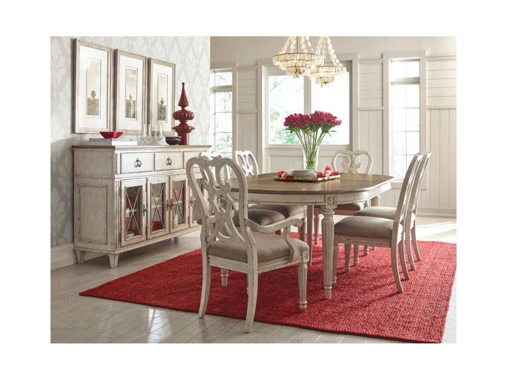 American Drew SOUTHBURY 513-701 Round Dining Table with Leaves ...