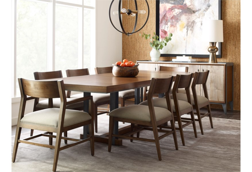 Living Trends Modern Synergy Contemporary Formal Dining Room ...