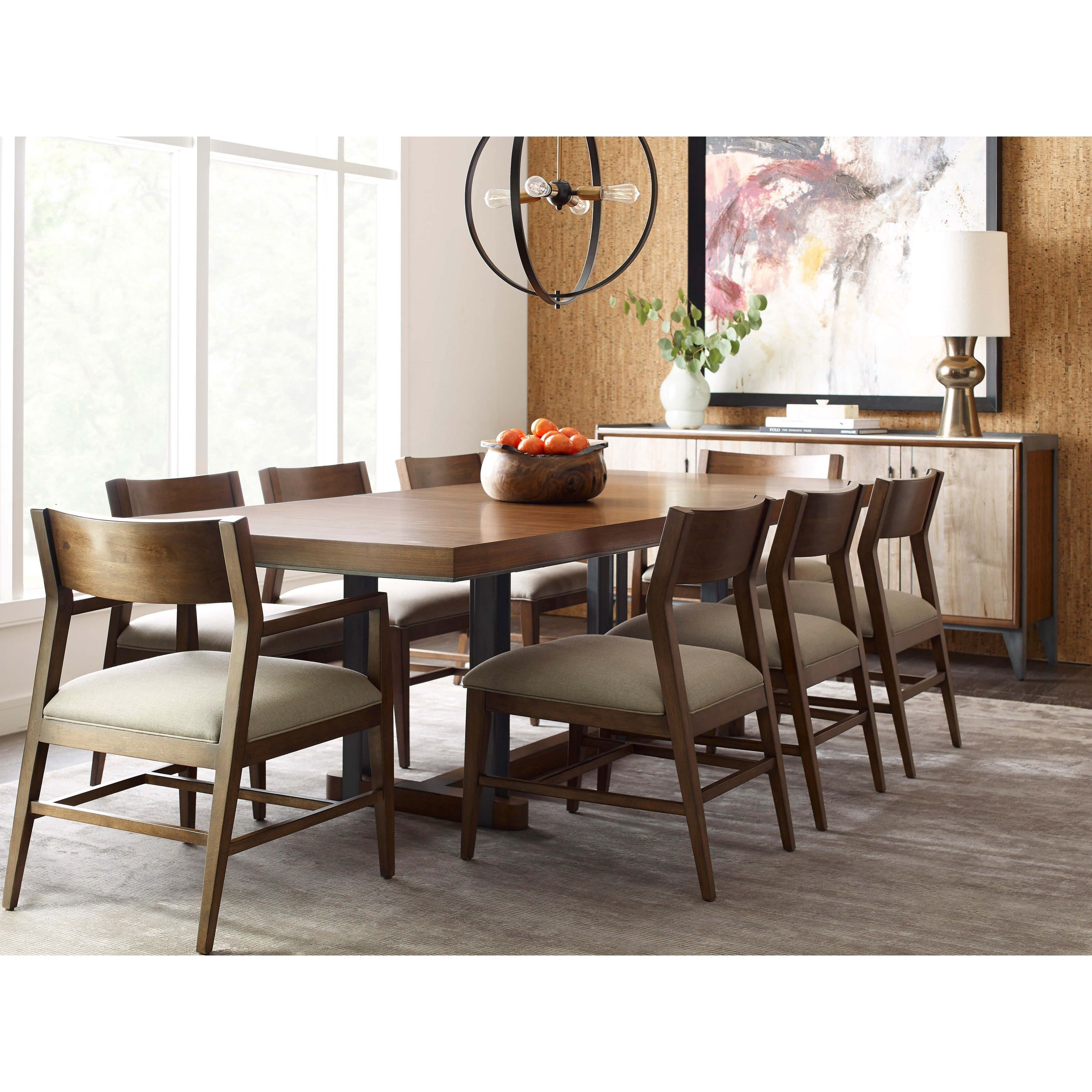 American Drew Modern Synergy Contemporary Formal Dining Room Group With  Rectangular Table