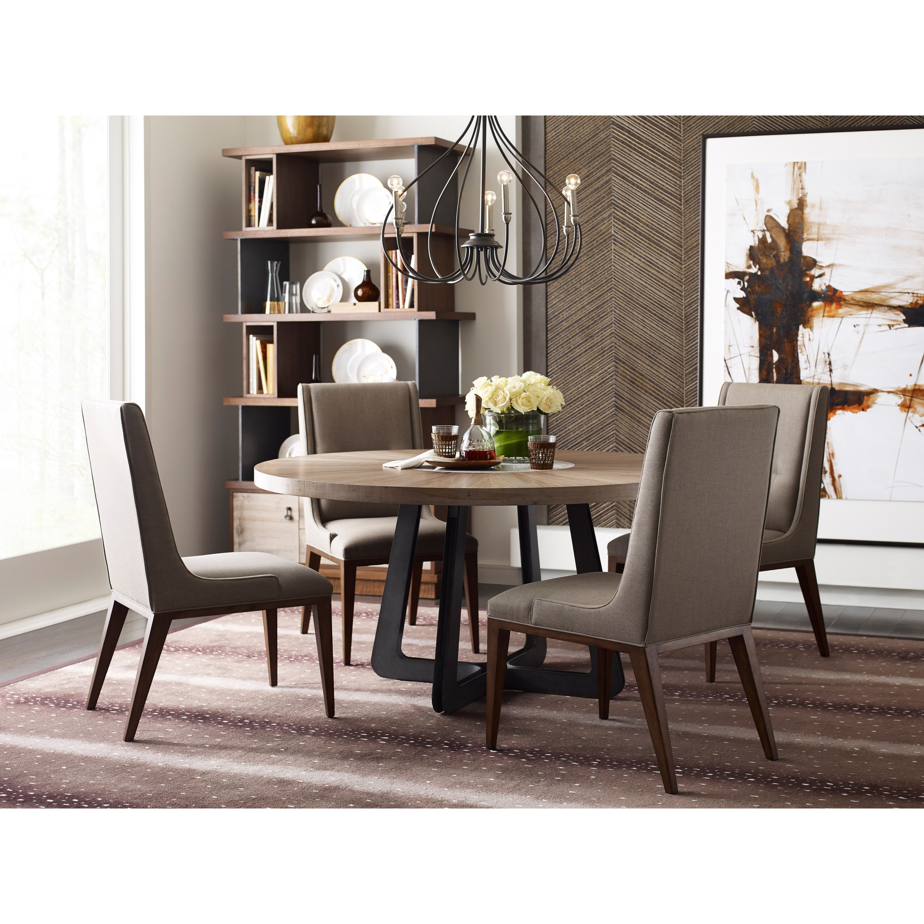 Contemporary Casual Dining Room Group with Round Table